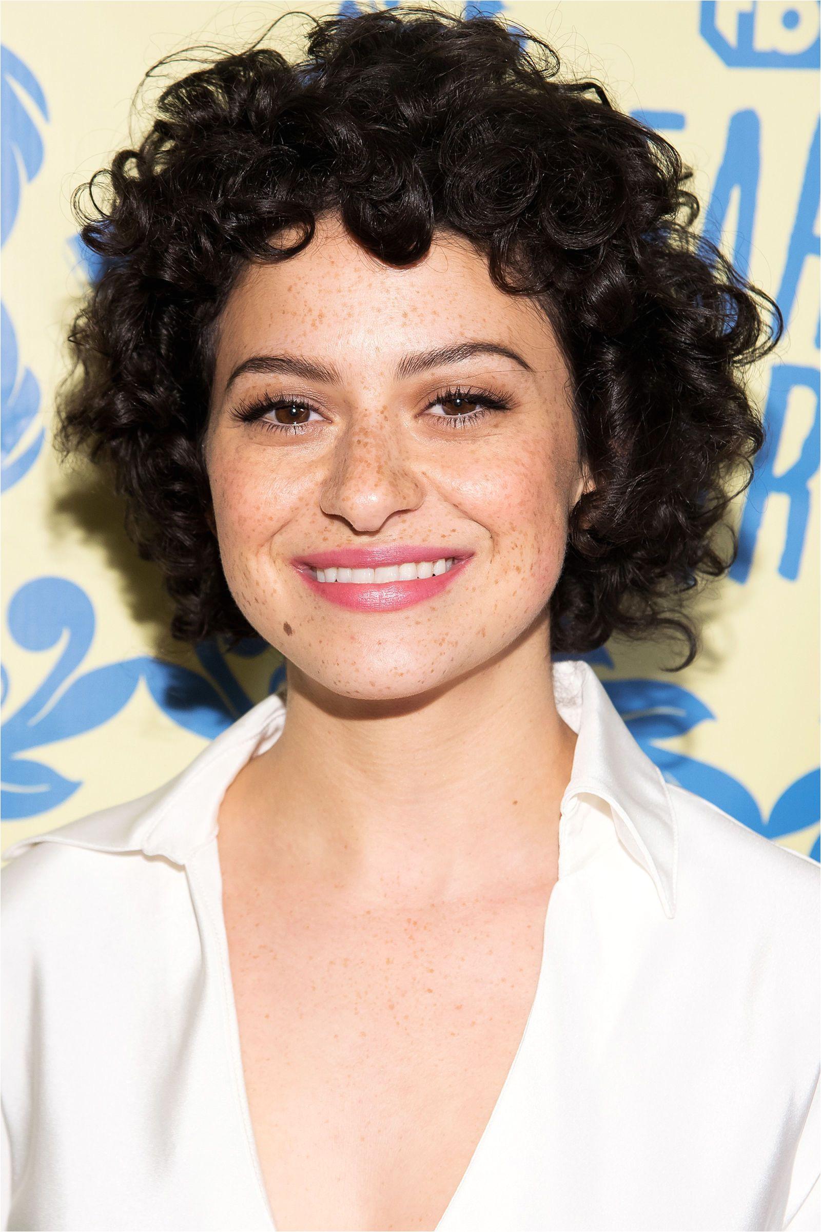 Alia Shawkat ELLE Short Hairstyles For Women Cute Curly Hairstyles Short