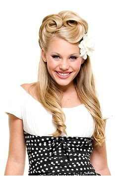 1950s hairstyles for long hair Google Search 1950s Hairstyles For Long Hair Hairdo For