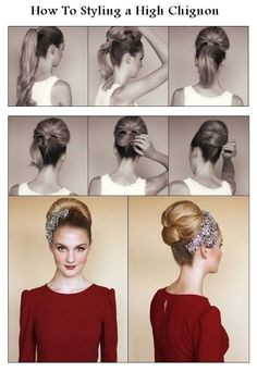 An Audrey Hepburn Esque High Chignon