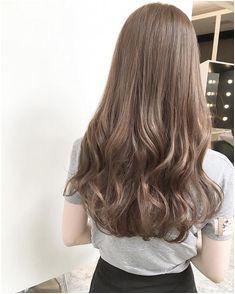 Light Brown Hair Ash Brown Hair Ulzzang Hair Long Wavy Hair Ombre Hair Color Permed Hairstyles Mi Long Face Hair Hair 2018 Silver Hair