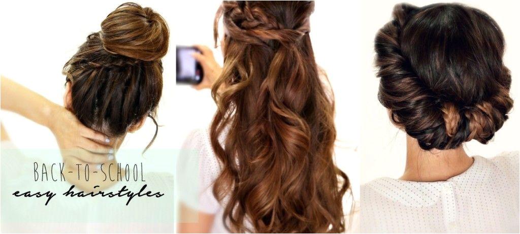 4 easy back to school hairstyles hair tutorial for long hair 2 1024x461 3 Amazingly Easy Back to School Hairstyles with Merged Braids HairstyleTutorials