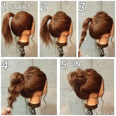 Never even thought of this so simple and cute messy Hairstyles For Women Tag a friend who Love this