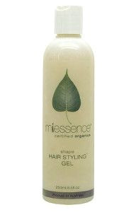 Miessence Certified Organic Shape Hair Styling Gel nourishes with rosehip aloe vera