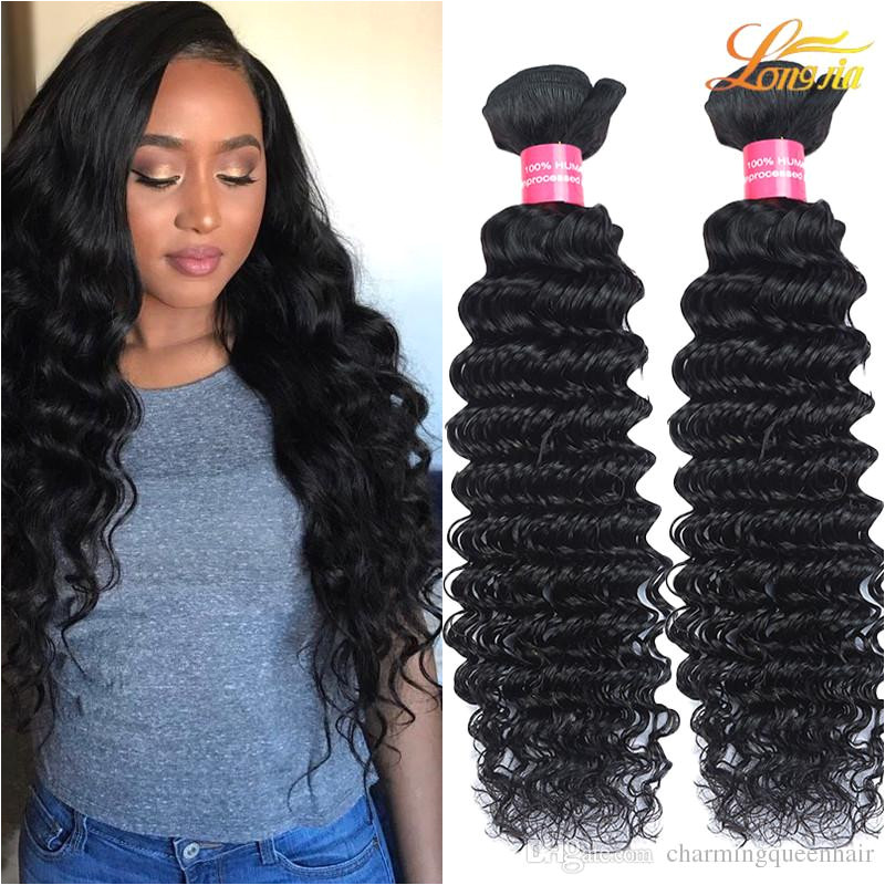 Malaysian Deep Wave Queens Hair Products Unprocessed Human Hair Extensions Dyeable Human Hair Weaves Great Quality Wholesale Price Double Wefted Human