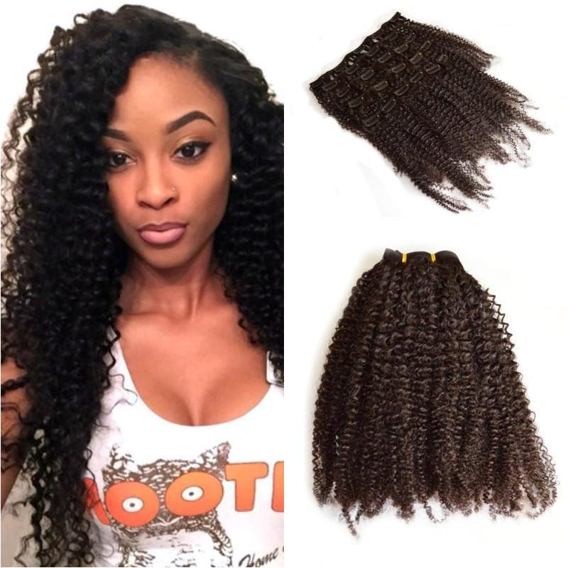 4c Virgin Hair Extensions Malaysian Human Hair Afro Kinky Curly Clip Ins Extension 4b 4c Kinky