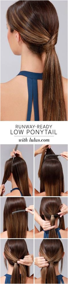 50 Simple Five Minute Hairstyles for fice women DIY Low Pony Hairstyles Simple Ponytail