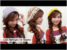 Cute Fall Winter Hairstyles for Beanies l Quick Easy Hairstyles for Medi