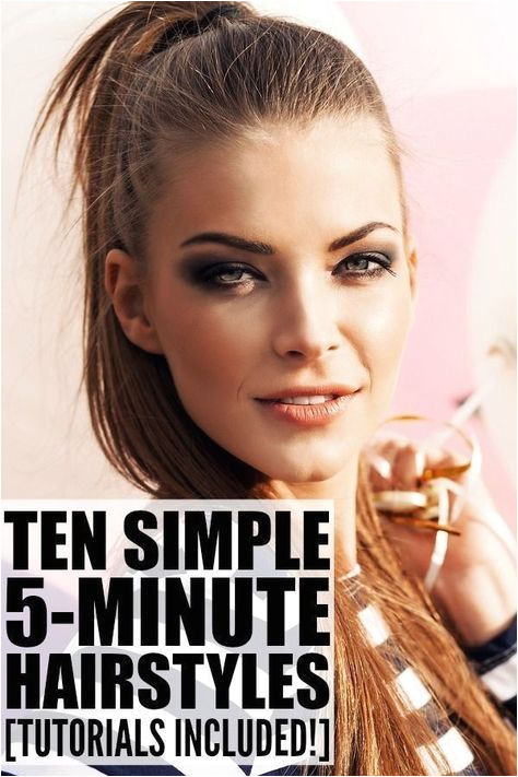 10 Everyday Hairstyles for Long Hair in Under 5 Minutes new styles Pinterest