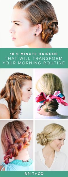 Save this for easy 5 minute hairdo ideas that will transform your morning routine