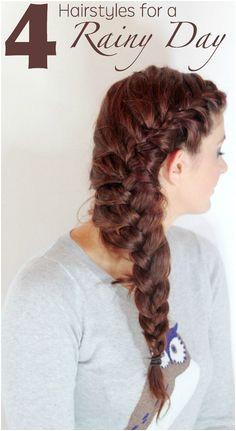 4 simple hairstyles for rainy days Rainy Day Hairstyles Easy Hairstyles Pretty Hairstyles