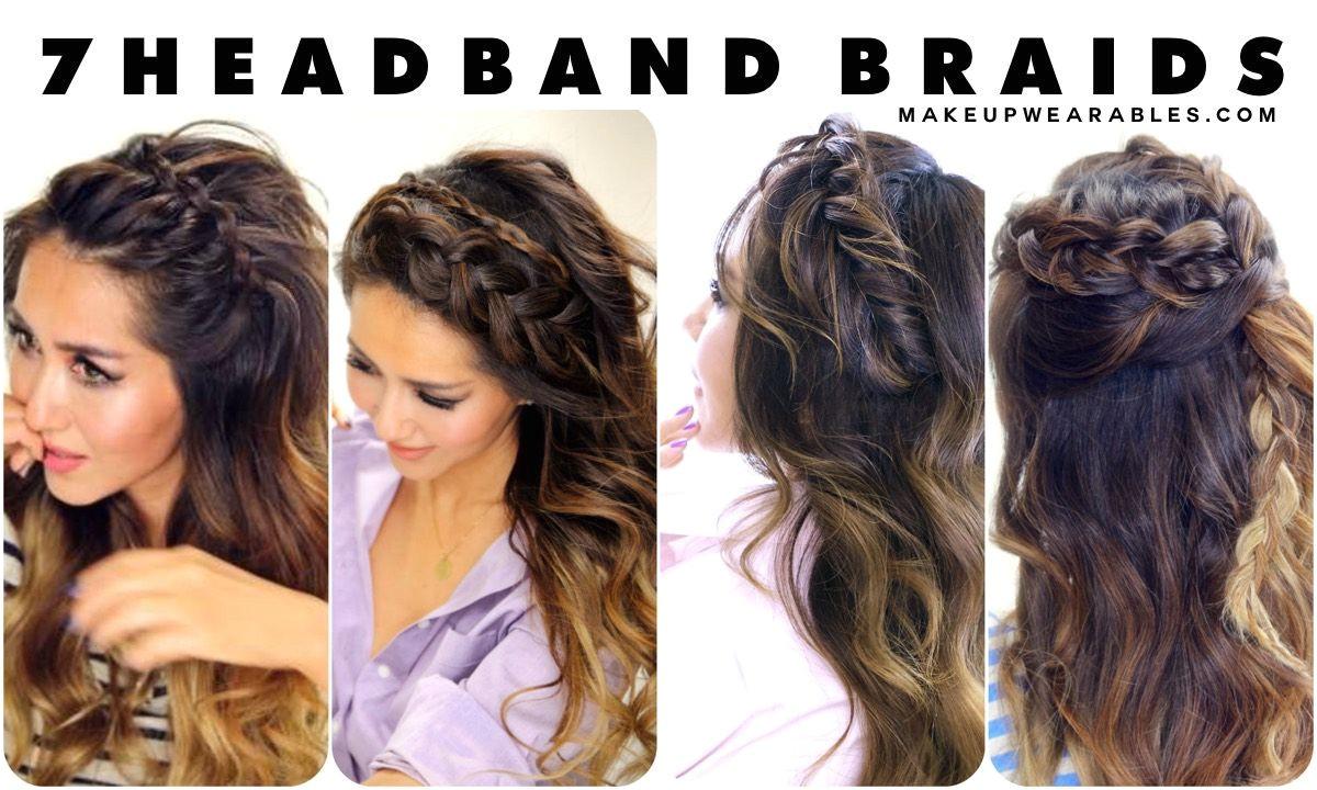 7 Headband Braid Hairstyles braided half updo hair tutorial