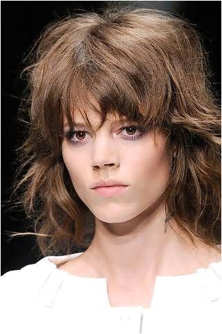 choppy shag haircut with bangs Yahoo Image Search Results