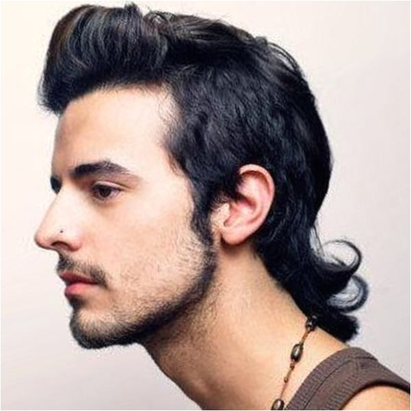 A mullet hairstyle for men