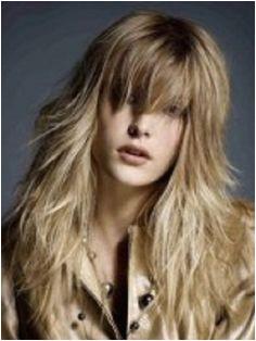 Long Shag Haircut with Bangs