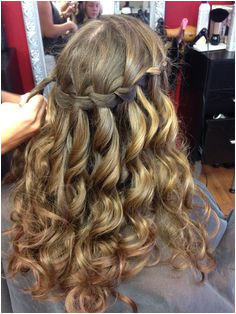Julia s waterfall braid for 8th grade graduation Graduation Hairstyles Prom Hairstyles Waterfall Braids