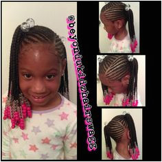 kids ponytail braids and beads style Beyondukidzhairswagg Kids Braided Hairstyles Girls Natural Hairstyles