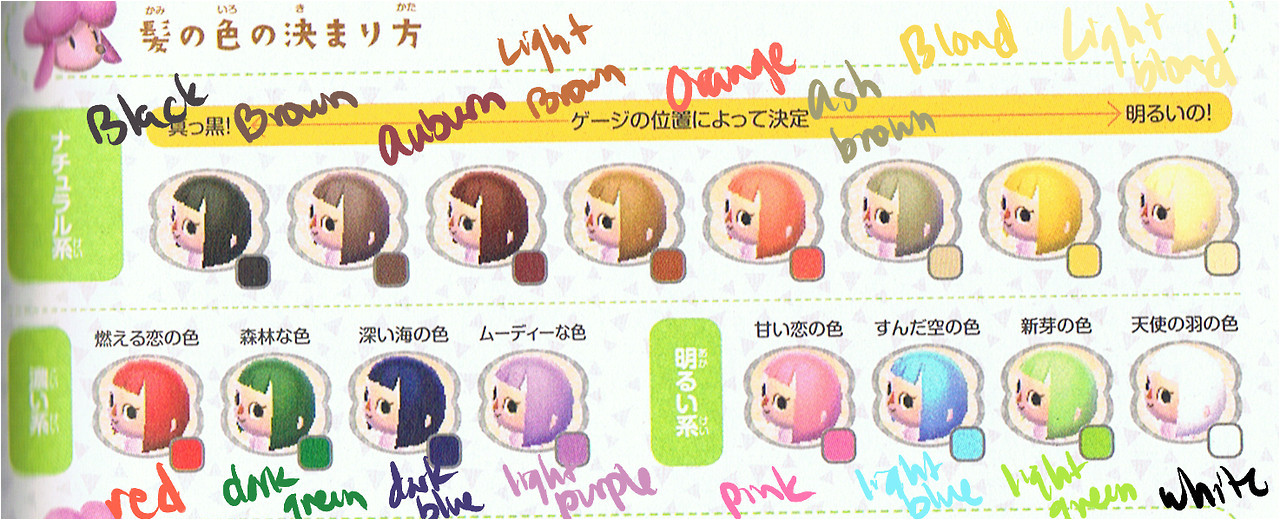 Acnl hair color guide animal crossing new leaf save editor page 1280x520 Acnl hair color