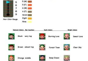 Acnl hair color guide awesome best animal crossing humor images on pinterest for acnl hair color