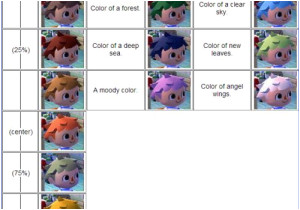 Acnl Hairstyles and Colors Acnl Pinterest