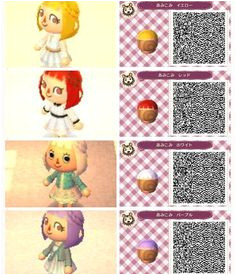 animal crossing new leaf hair qr codes 이미지 검색결과