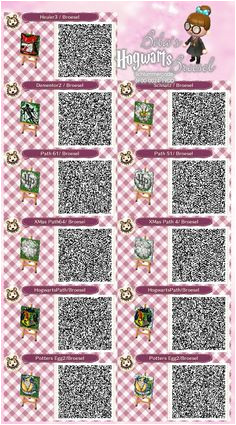Zauberer Broesel Spiel A letter from Hogwarts Harry Potter snowy Path Winter Schnee Weg qr ACNL Broesel Animal Crossing New Leaf