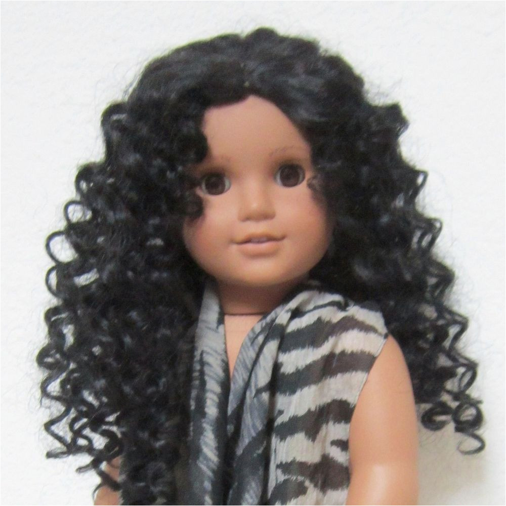 American Girl Custom OOAK Doll Pleasant Co Historical Josefina Curly Wig Outfit Doll