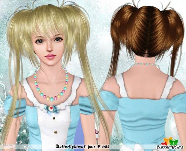 Sims 3 Anime Finds Rosa Pokemon Hairstyle by Butterflysims