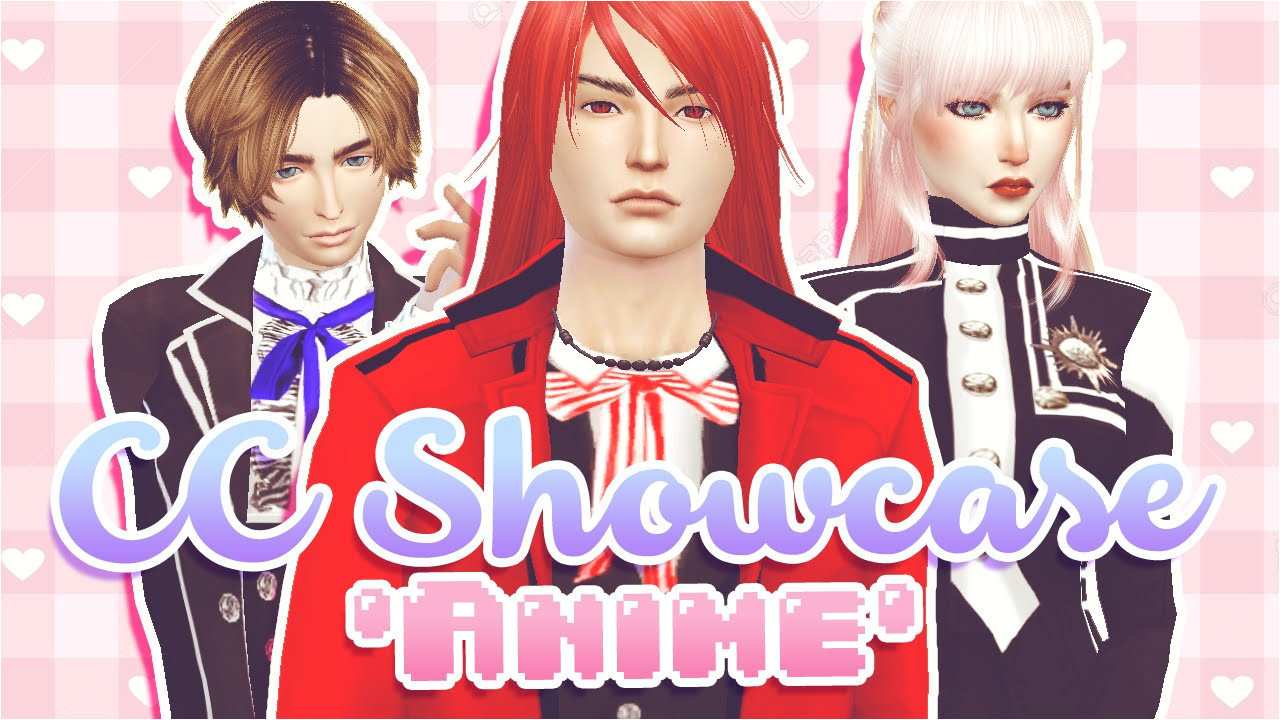 Anime Hairstyle the Sims 3 the Sims 4 Cc Showcase [anime Costumes]