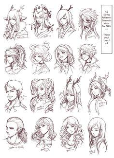SRC Batch 3 Nikki s Manga HairstylesDrawing