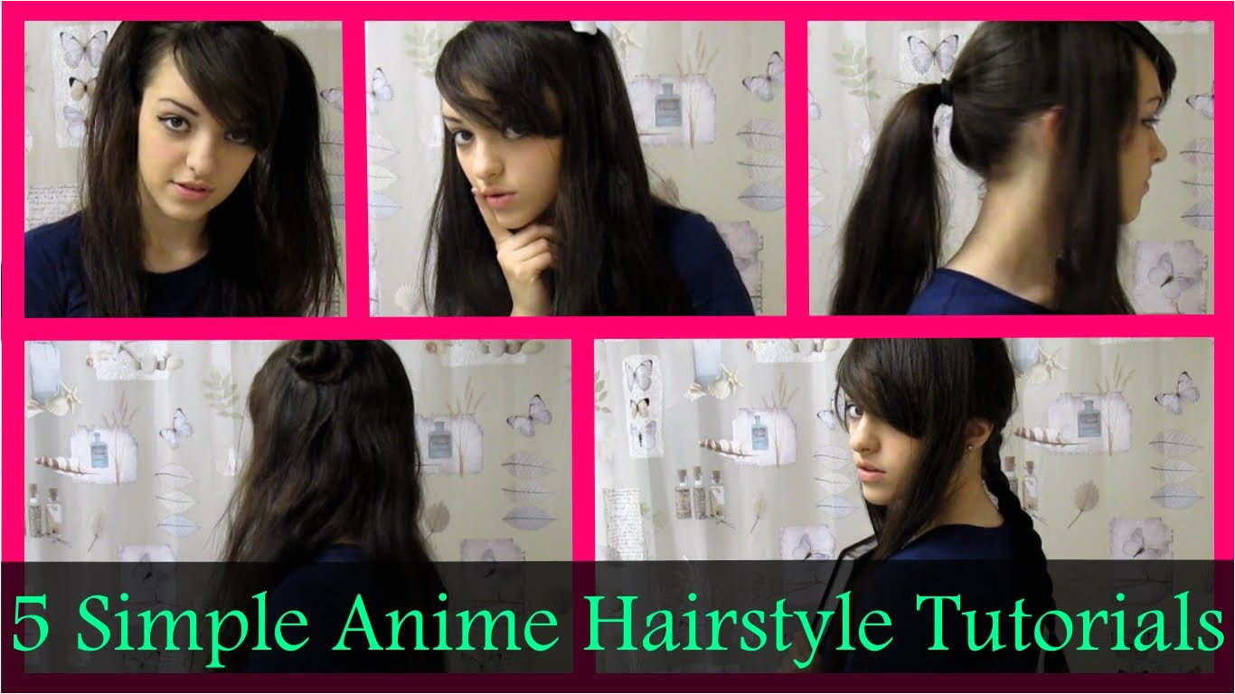 Everyday anime hairstyles for girls in real life