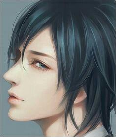 Pretty Boy black hair male digitalart