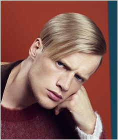 Clean hairstyle for men with blonde hair