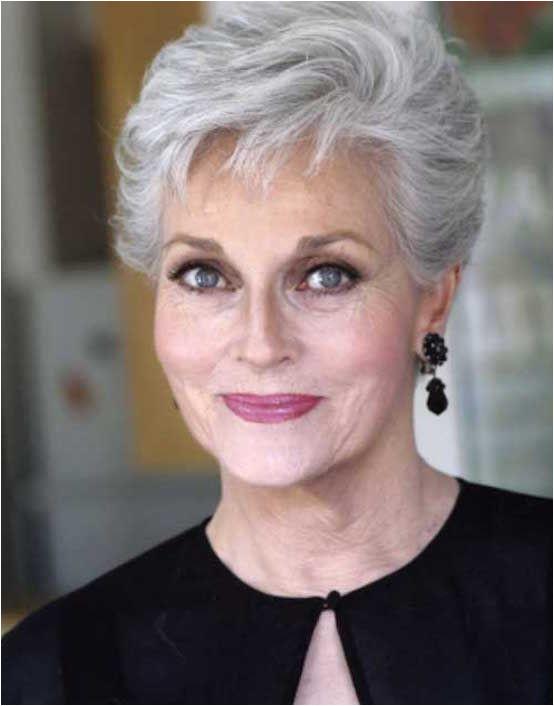 Short Grey Haircut for Older Women