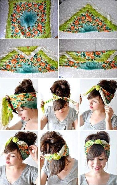 6c0e0d54fd b a0fb14b2bf5 381—604 Bandanna Headband Scarf Headbands Curly Hair
