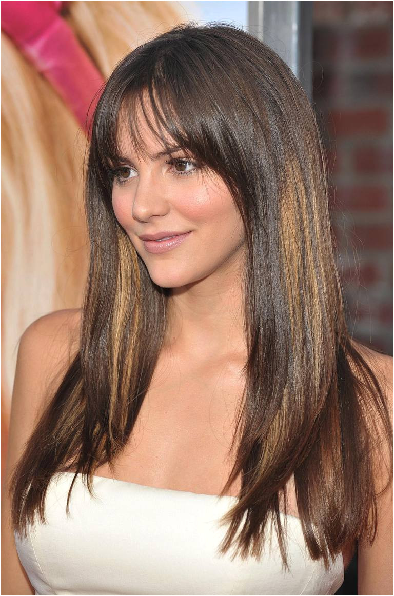 The Best Bangs for a Round Face Katherine McPhee hairstyles