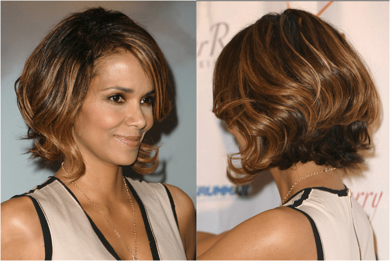 Halle Berry with a graduated bob