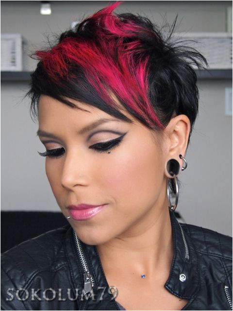 Hair pink and black heather sokolum is that a 70 s eye socket line memories