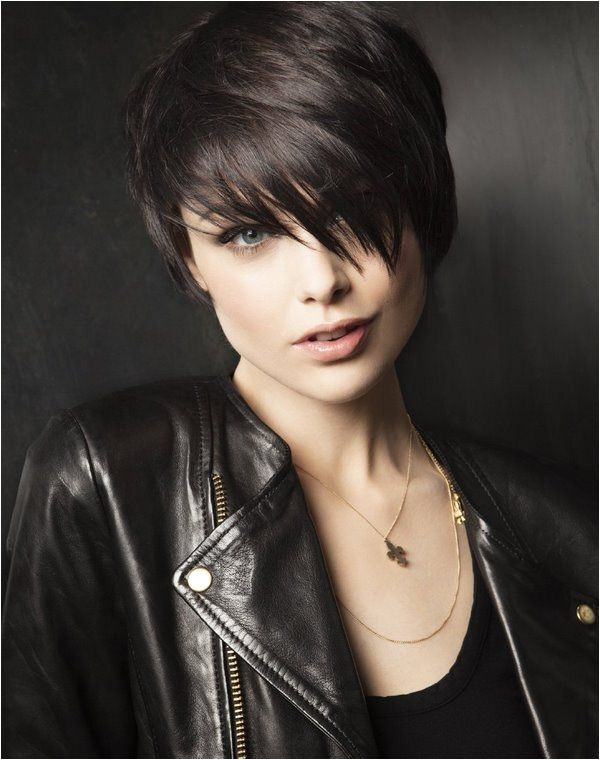 asymmetrical short haircuts with fringe hairstyles bangs