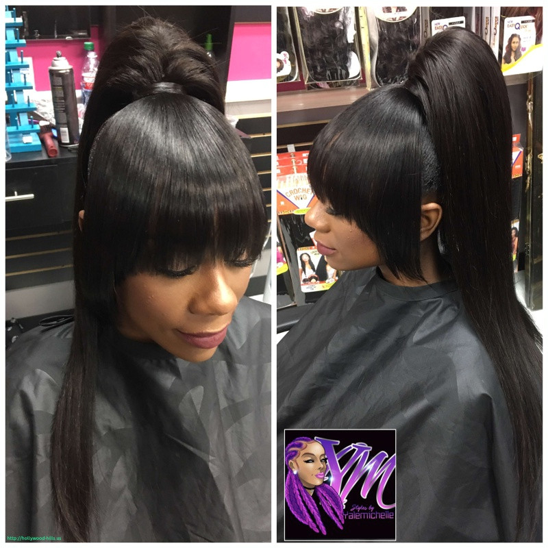 Black Hairstyles Bangs Ponytails Unique Hair Style Stunning Weave Ponytail with Bangs Hairstyles