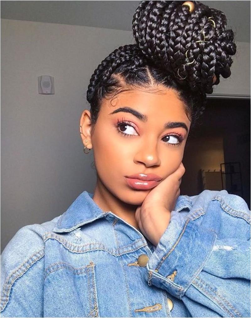Black Hairstyles In A Bun Adorable Bun Hairstyles for Black Hair