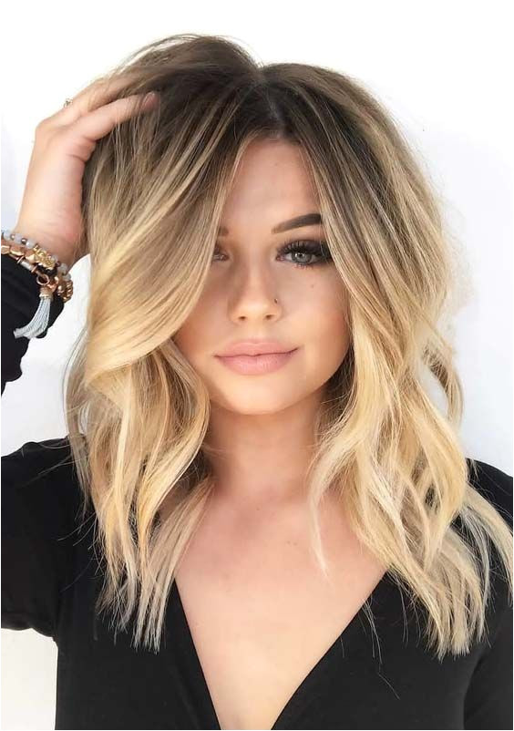 29 Creative Medium Length Blonde Haircuts to Show f in 2018 Medium length hairstyles are suitable hairstyles for la s wh…