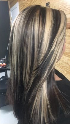 Dark chocolate base with blonde highlights 2017 summer hair Hair Color Dark Highlights 2017
