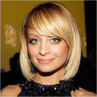Nicole Richie bob for growing out layers