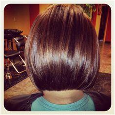 Back of one of my stacked bob haircuts angled bob Bob Haircut For Fine Hair
