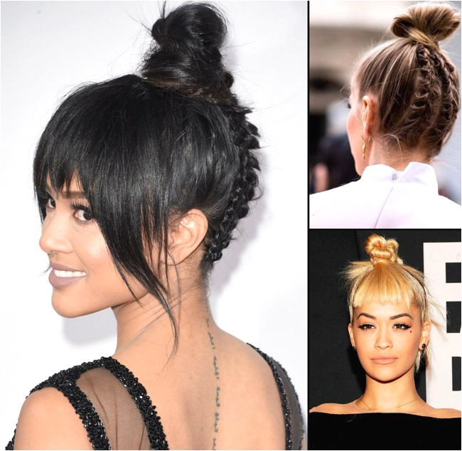 trendy top knots hairstyles for evening party