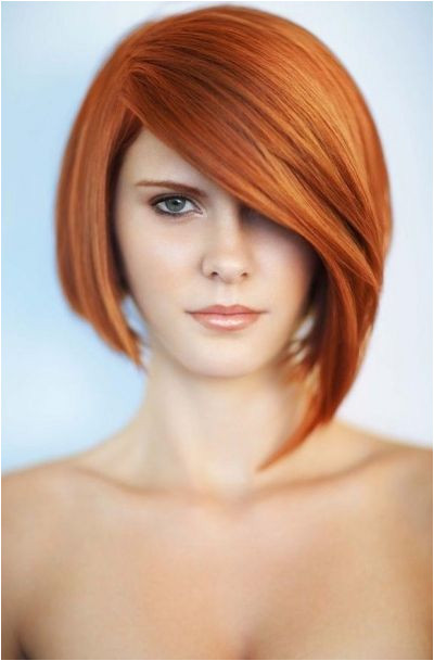 Medium length bob hairstyle with fringe