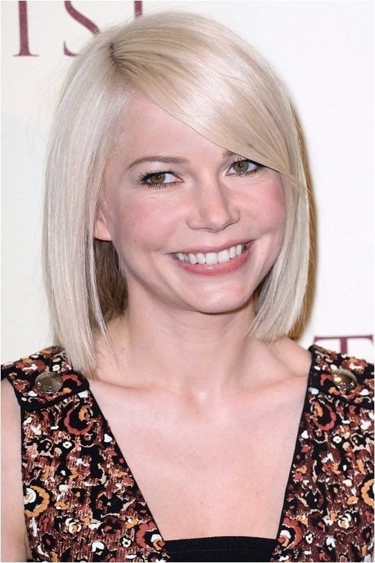 Michelle Williams sleek bob haircuts celebrity bob haircuts bob haircut for medium hair bob haircuts for fine hair inverted bob with bangs