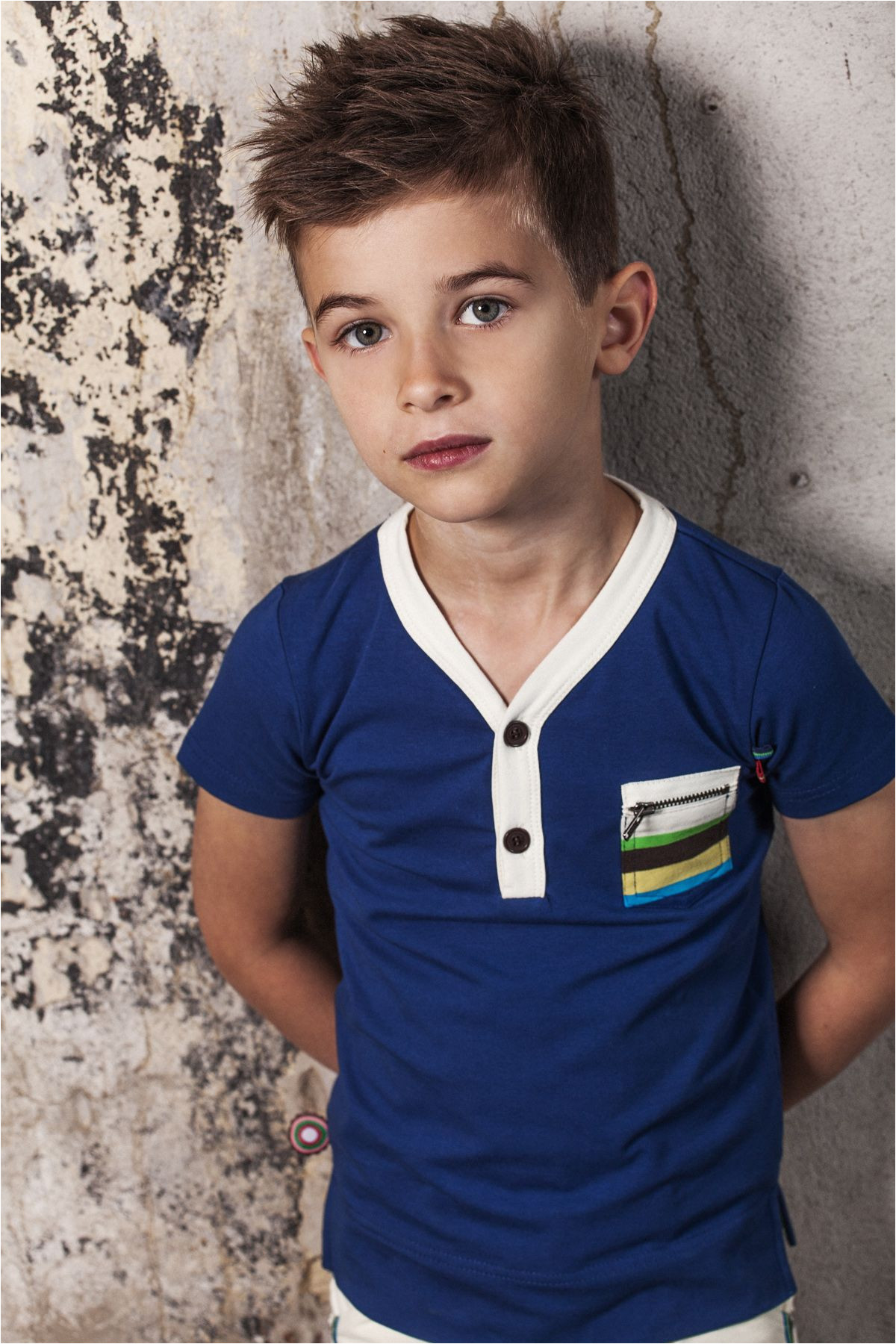 Love this little boys look Adorable hair and shirt