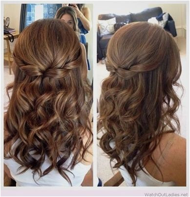 Half Up Half Down Hair with Curls Prom Hairstyles for Medium Length Hair WeddingHairstyles