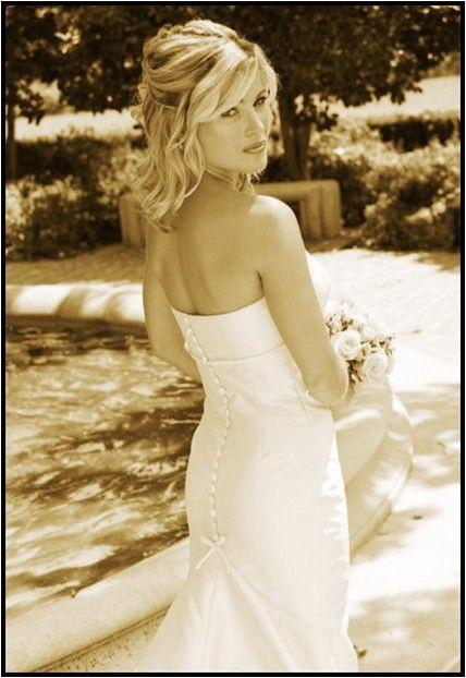 wedding hairstyles half up half down shoulder length hair Google Search Tocados De Novia
